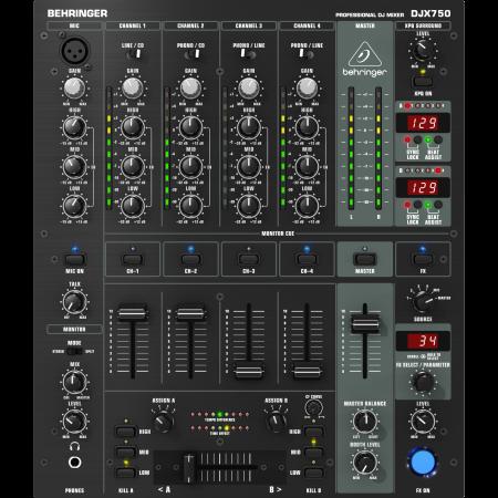 Behringer DJX750 5-kanálový Dj mixput
