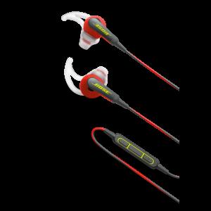 BOSE SoundSport IE sluchátka kolem uší pro vybraná zařízení Apple, červeno-černá