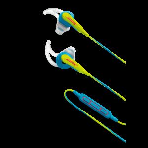 BOSE SoundSport IE sluchátka kolem uší pro vybraná zařízení Apple, neon modrá