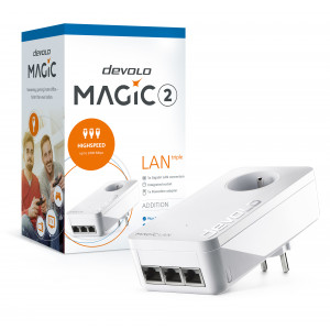 devolo D 8506 Magic 2 LAN triple power socket adapter